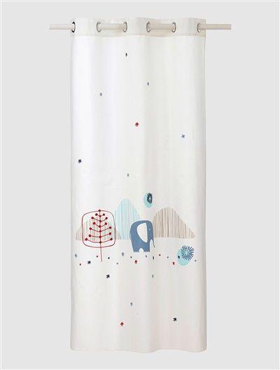 Baumwoll Vorhang Mit Elefant Weiss Kids Decoration Pinterest