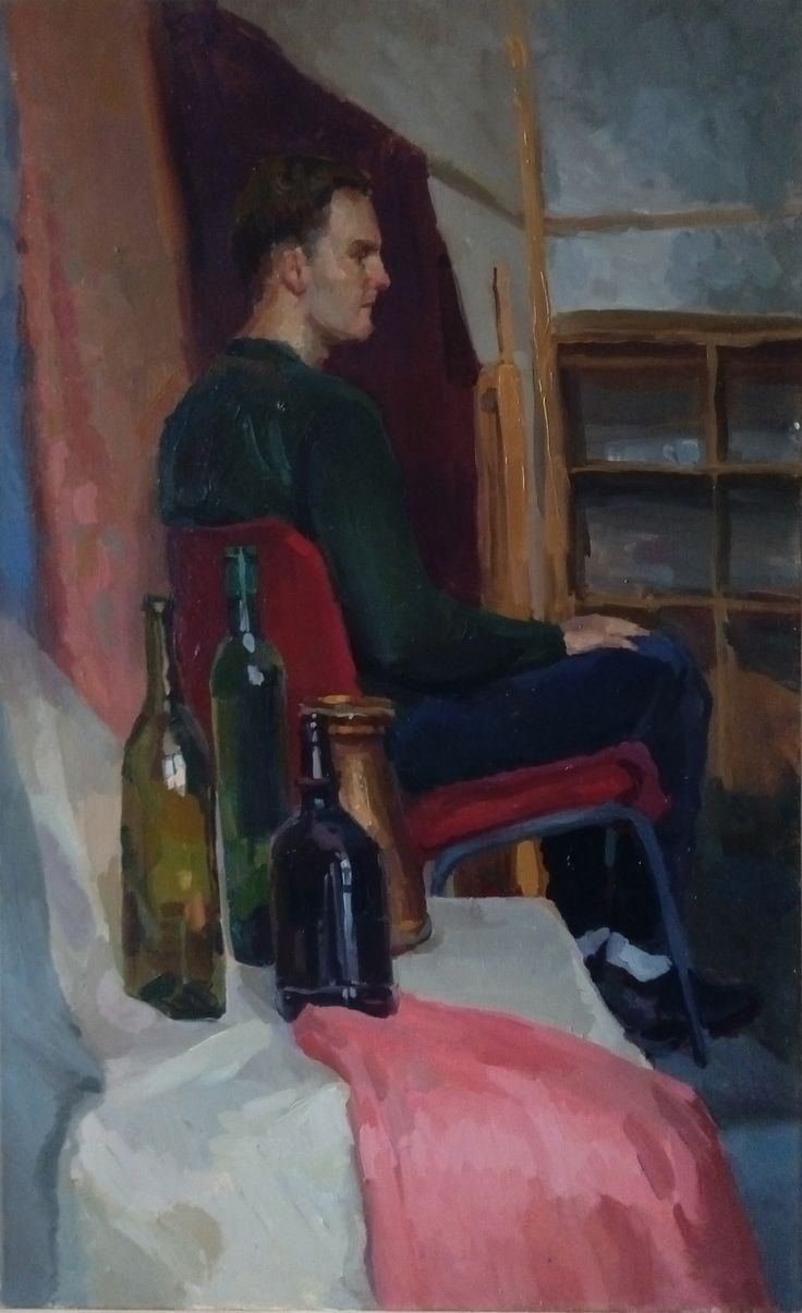 Alexander.2015 oils, canvas. Valeria Mironenko #art #portrait #oils #modern #green #red