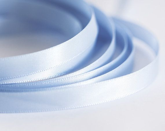 1930_Double faced ribbon 10 mm, Powder blue ribbon, Ribbon silk, Band,Silk ribbon,Satin ribbon,Ribbon double side,Satin band for jewelry_10m