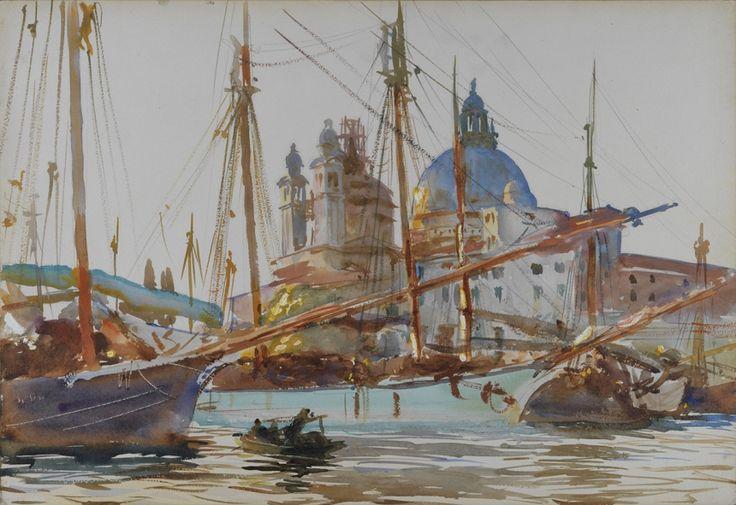 John Singer Sargent, The Church of Santa Maria della Salute, Venice, c. 1904-9,