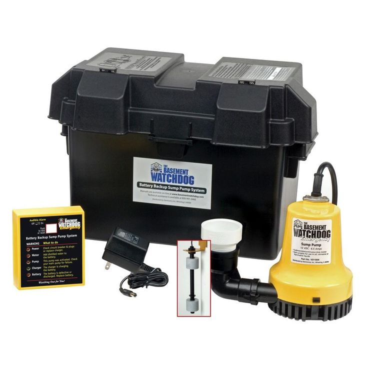 Basement Watchdog Emergency Battery Backup Sump Pump System-BWE - The Home Depot