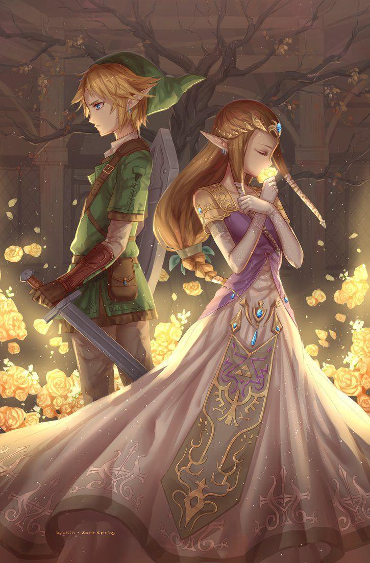 link and zelda by kyuriin legendofzelda gaming - Link Et Zelda