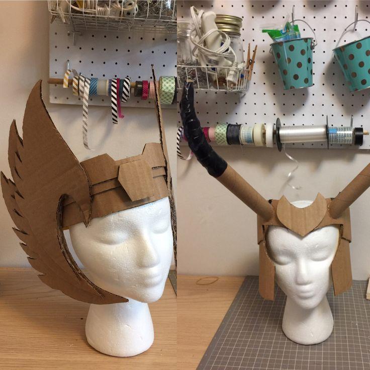 Thor and Loki cardboard craft