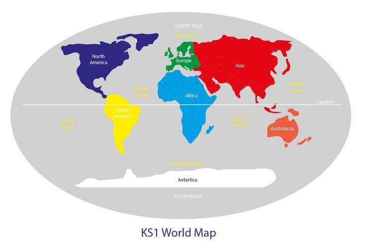 key stage 2 world map with continents , equator , northern and - new world map to print ks1
