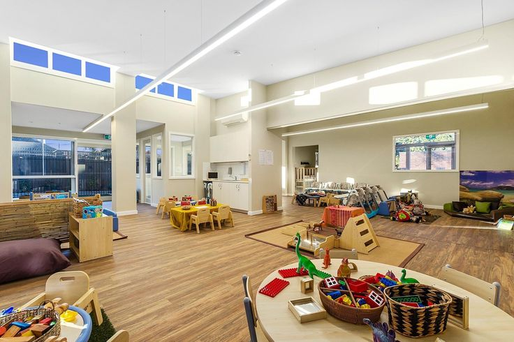 Little Learners Early Childhood Centre, St Kilda proudly lit by Sphera lighting. The Linea on display, providing a clean touch to this space #interiorlighting #architectual #linea
