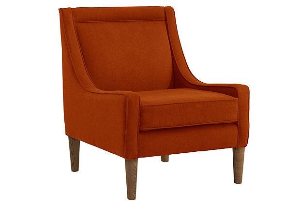 Scarlett Swoop-Arm Chair, Tangerine on OneKingsLane.com