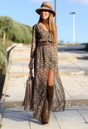 платья в стиле бохо длинные