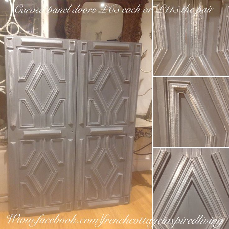 Painted antique doors, great as headboard(s)! FOR SALE £115 the pair
