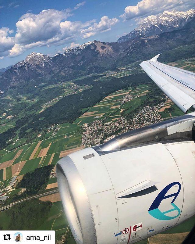#Repost @ama_nil with @get_repost  Thank u #adriaairways for a nice flight from #Ljubljana #reiseliv #reisetips