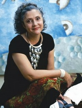 Laura Esquivel, Mexican writer of Como agua para chocolate/Like Water for Chocolate.