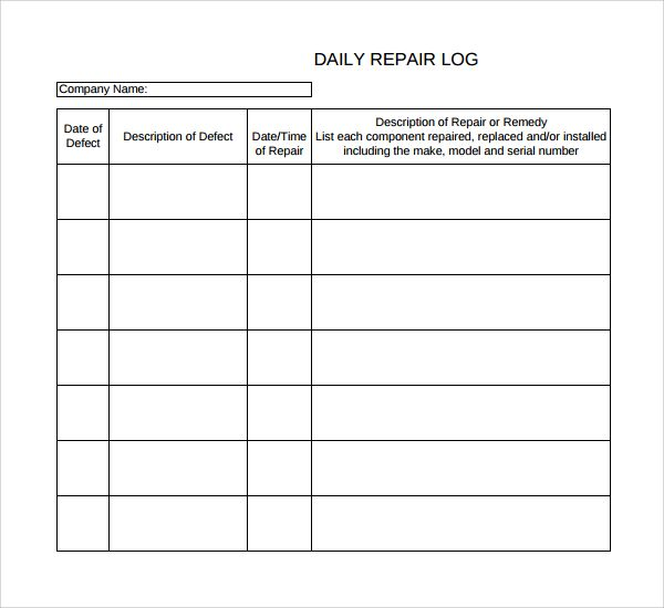 Image result for machine repairs log book | PROJECTS A
