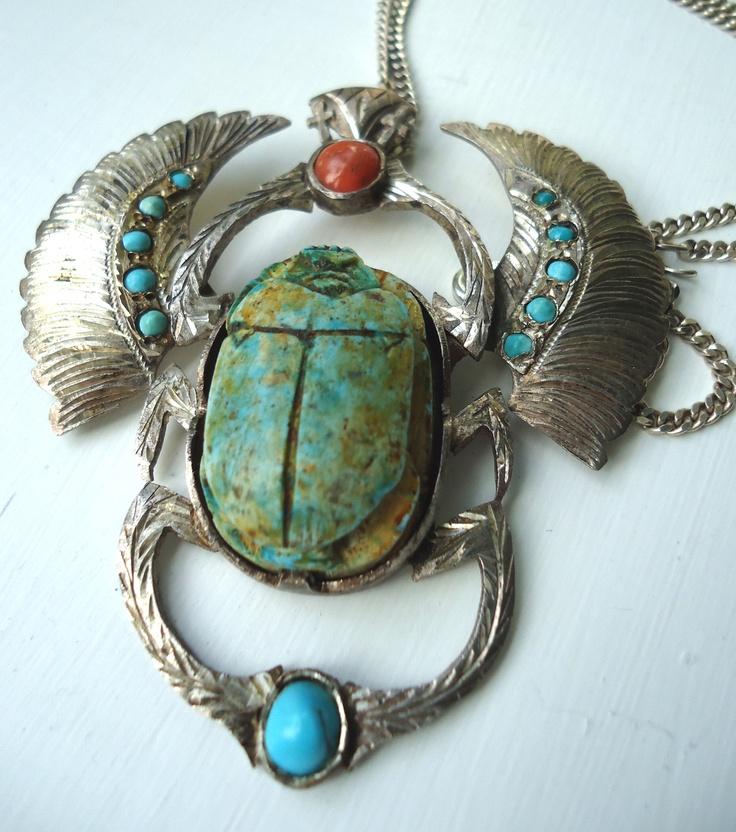 68 best egypti scarab beetle images on pinterest beetles egyptian revival scarab necklace aloadofball Choice Image