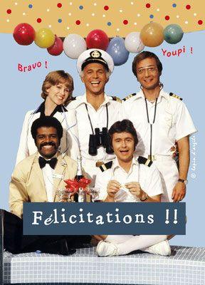 Carte postale anniversaire humour décalé par © Le lapin d'argile, disponible sur http://www.lelapindargile.com La croisière s'amuse