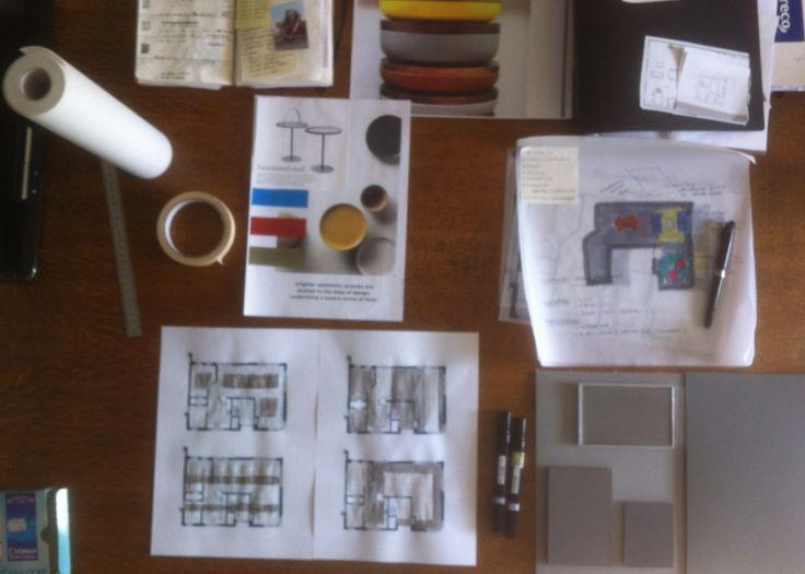 work in progress | ontwerpproces | schetsen | vloerontwerpen | sfeerbeeld | interieurontwerp | atelier M5 | www.atelierm5.nl