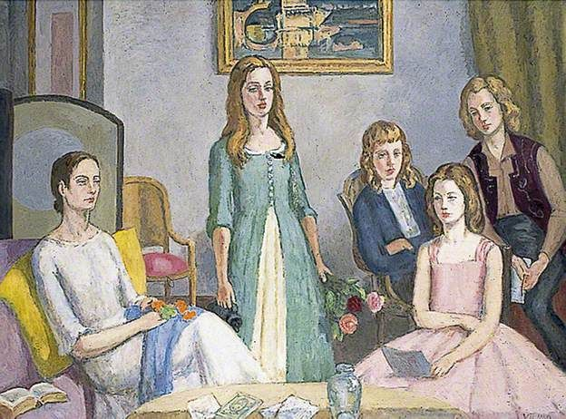 Angelica Garnett and Her Four Daughters by Vanessa Bell, c.1959