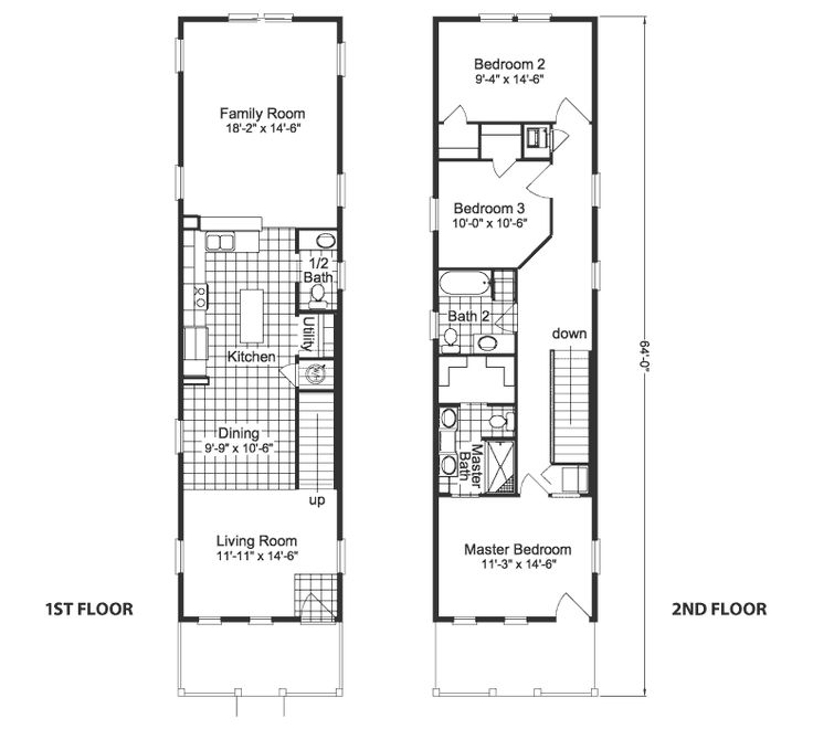 126 best shotgun house plans images on pinterest for Shotgun home floor plans