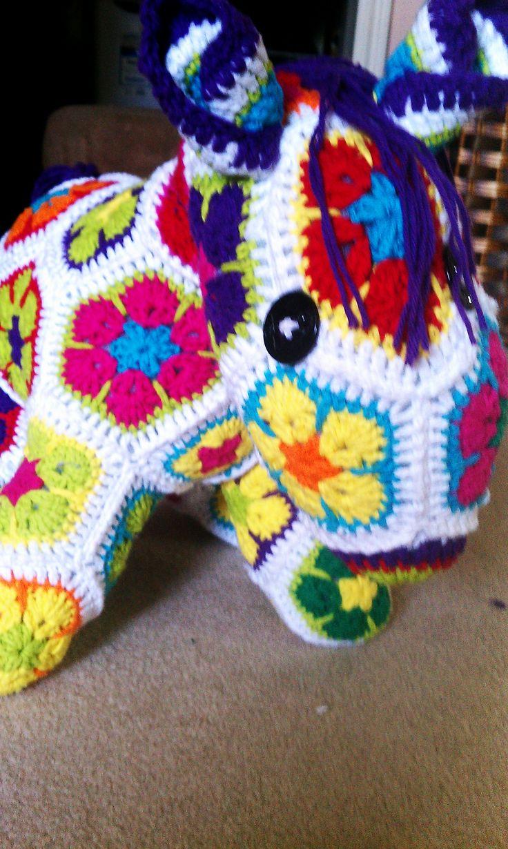 African Flower Pony Crochet Pattern : 17 beste afbeeldingen over crochet african flower op ...