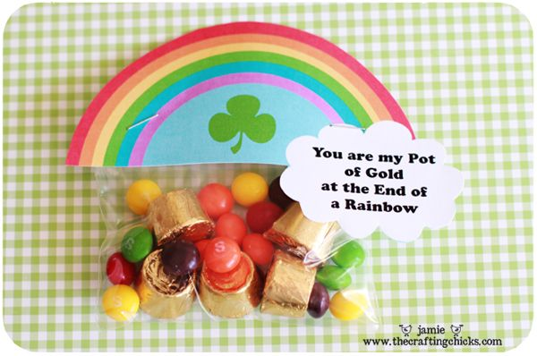 You are my Pot of Gold at the End of the Rainbow (rolos and skittles): St. Patties, Food Ideas, Lucky Treasure, Bags Toppers, St. Patrick'S Day, Treats Toppers, Treasure Hunt'S, Free Printable, Kid