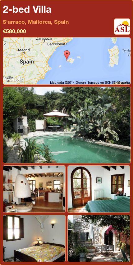 2-bed Villa in S'arraco, Mallorca, Spain ►€580,000 #PropertyForSaleInSpain