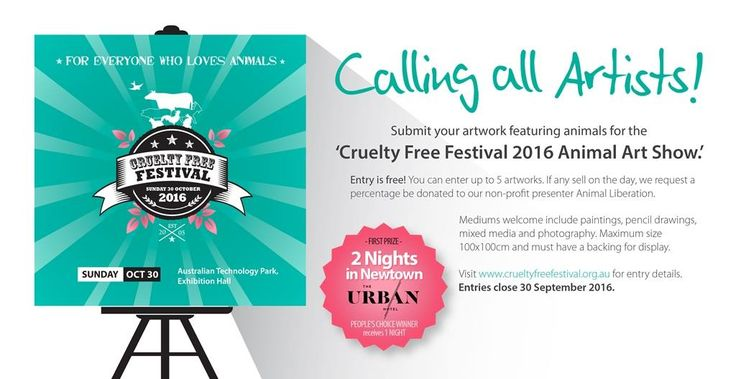 CFF 2016 Animal Art Show Competition closing soon! Make sure to get you're entries in by 30 September for a chance to WIN 2 nights at The Urban Newtown <3