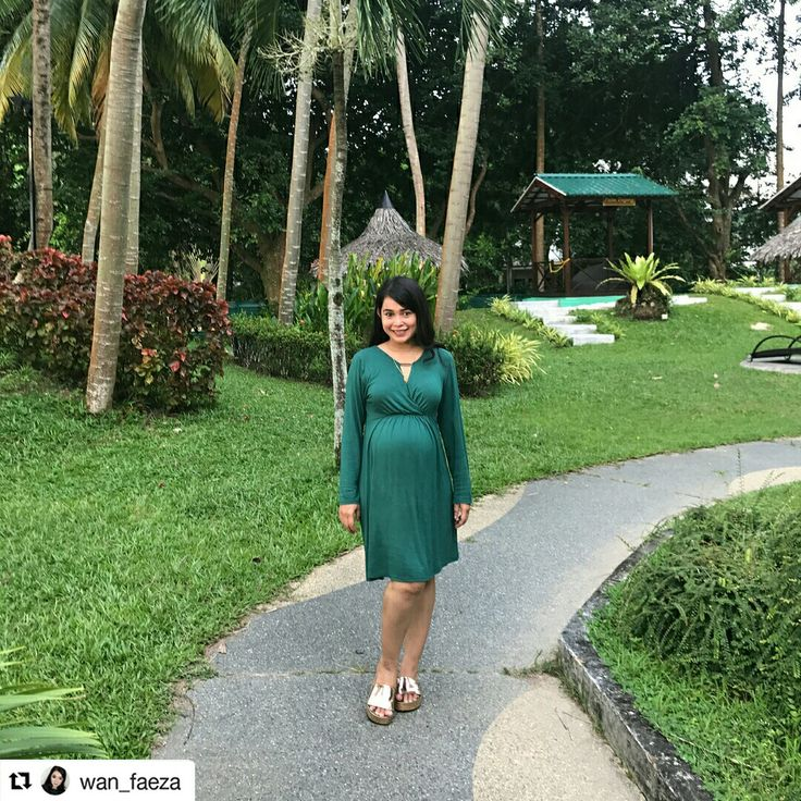 Hot mama spotted! @wan_faeza looks unbelievably stunning in our Green Wrap Dress with Metal Detail. www.9monthsmaternity.com  Shop the dress HERE: http://www.9monthsmaternity.com/green-wrap-dress-with-metal-detail#.Wcr69LKg-Uk  #Repost @wan_faeza (@get_repost) ・・・ bump at 37weeks....