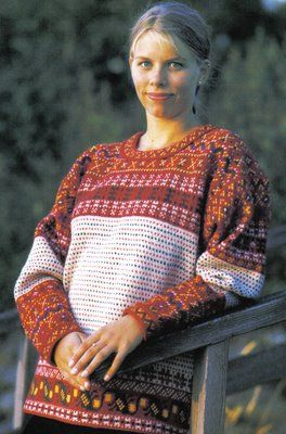 Korsnas sweater. One day I'd like one; my great-grandmother was from Korsnas.