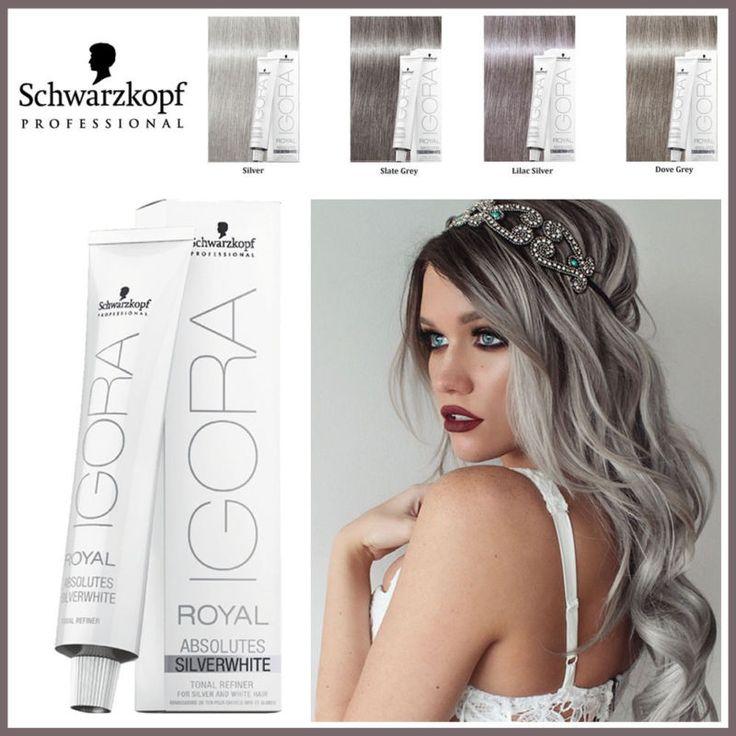 Schwarzkopf Igora Royal-Grey Lilac,Dove Grey,Silver,Slate Grey Hair Dye/Colour