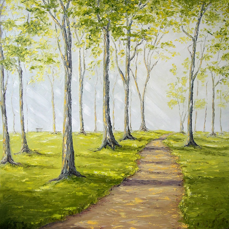 """Sunny Forest Road"" by Claudia Hansen 
