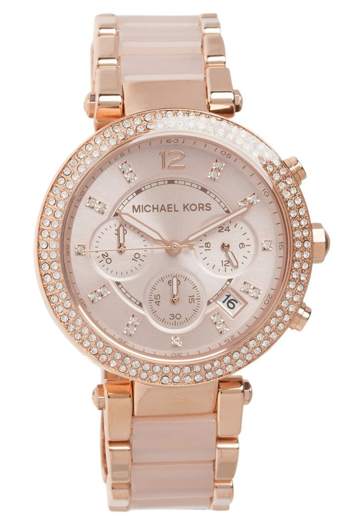 michael kors parker montre aiguilles rosegold coloured puder prix montre femme zalando. Black Bedroom Furniture Sets. Home Design Ideas