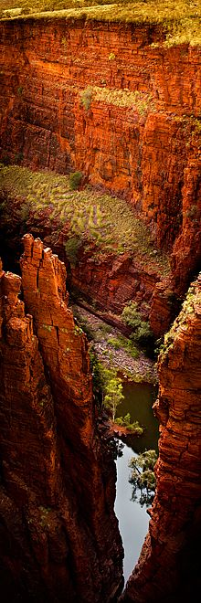 Karijini National Park is centred in the Hamersley Ranges of the Pilbara region in northwestern Western Australia