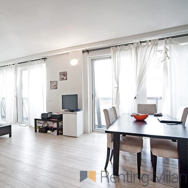Wonderful new apartment with 2 bedrooms and a roof top terrace available from August only on #rentingmilan #milan #milano