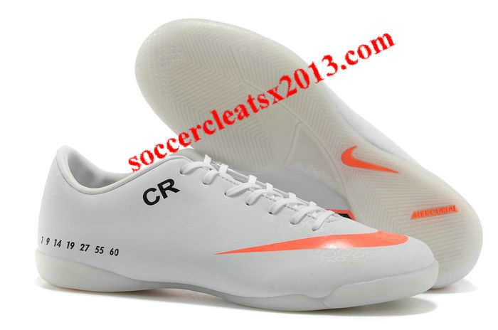 2013 Nike Mercurial Vapor IX IC Limited Edition CR 7 Football Boots White Orange Black