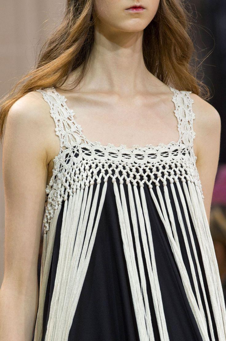 Veronique Branquinho at Paris Spring 2016 (Details) Crochet Yoke