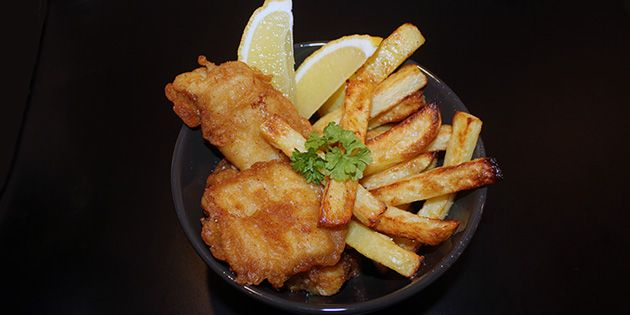 Fish and chips - nem opskrift uden friture