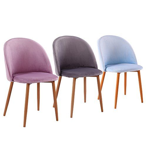 Fayean Dining Chair Soft Velvet Cushion Chair Sturdy Metal Legs