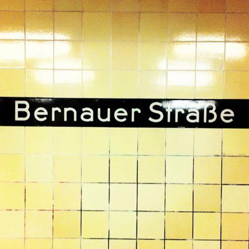 bernauer str. ubahn stop in berlin