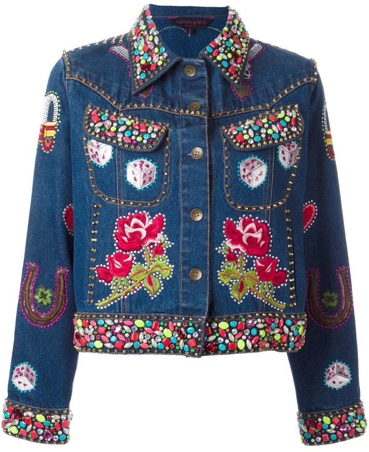 Manish Arora embellished denim jacket