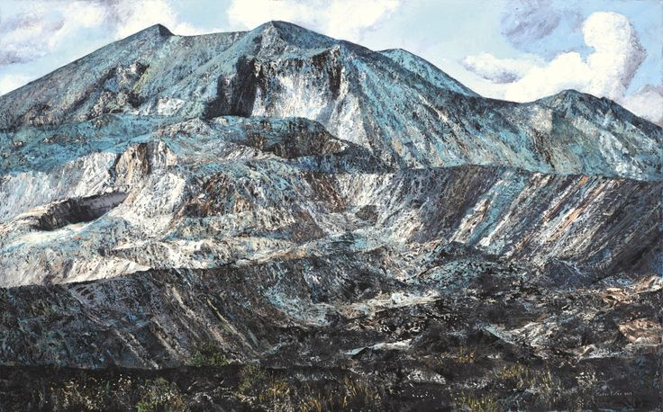 Gusti Agung Mangu Putra (Indonesian, b. 1963), Landscape Batur, 2013. Oil on canvas, 125 x 200 cm.