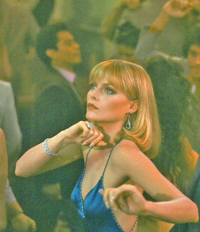 "Michelle Pfeiffer in ""Scarface"" Directed by Brian de Palma. 1983"