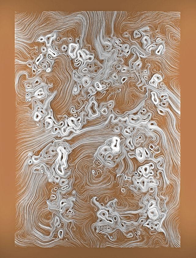 Utilisant un dispositif complexe de programmation pour obtenir ce rendu, ces œuvres digitales sous forme filaire impressionnent.