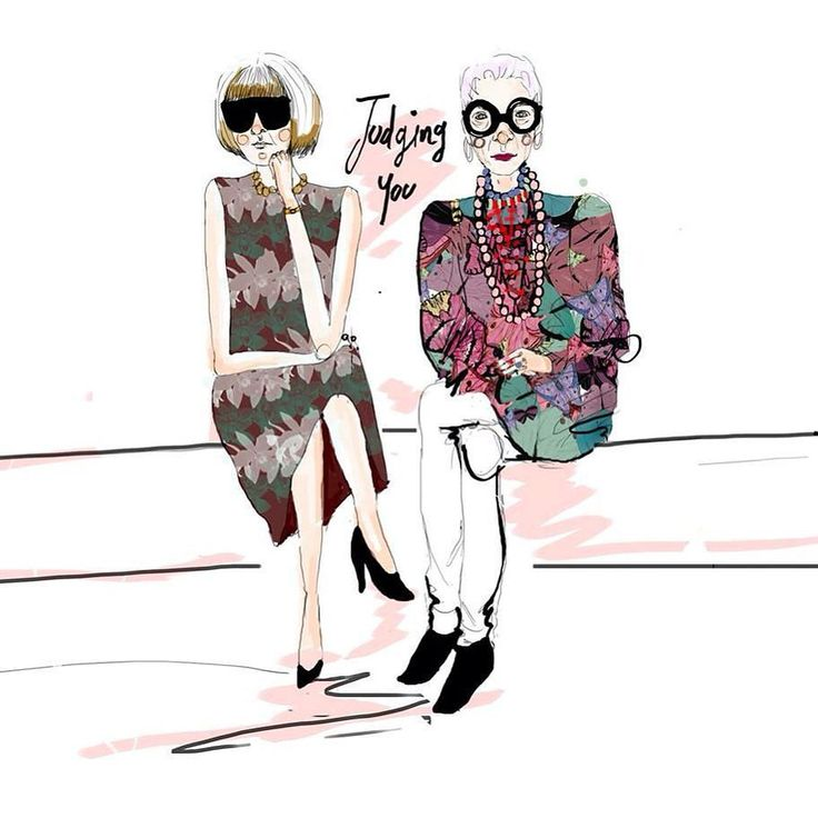 Illustrations for my graduation project  #irisapfel #annawintour  Ilustraciones…