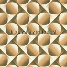 Retro Patroon bruin gordijnstoffen 03427-06 Kleurmijninterieur