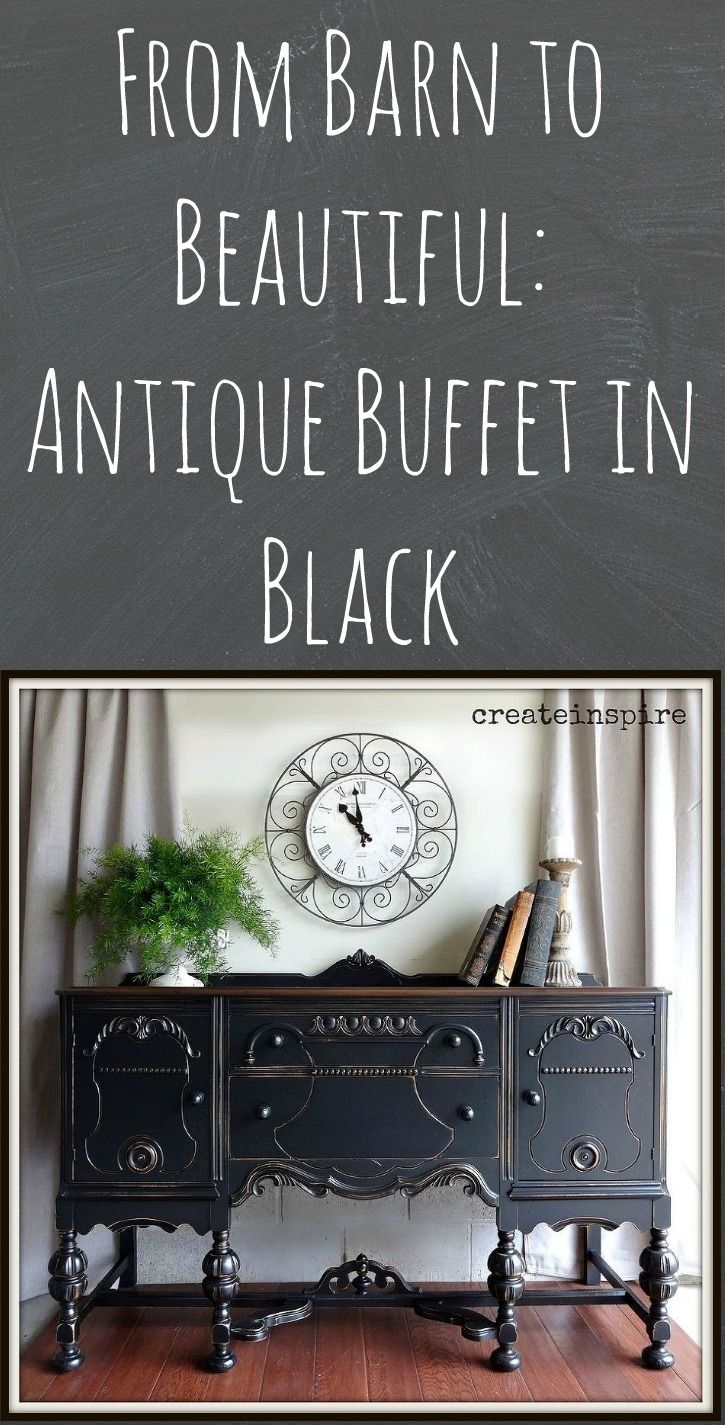 From Barn to Beautiful: Antique Buffet in Black