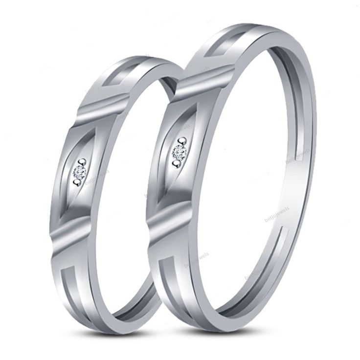 diamond lines bands coupleband couple online latest love rings jewellery band designs