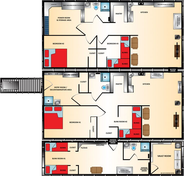 1000 images about shelters on pinterest safe room for Survival home plans