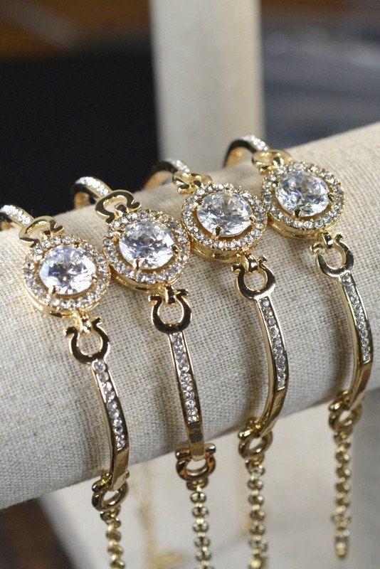 Hey, I found this really awesome Etsy listing at https://www.etsy.com/listing/201087809/gold-braceletcubic-zirconwedding