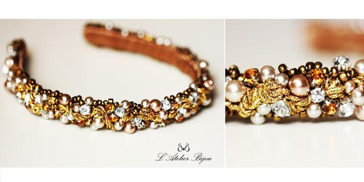 Glamour headband #jewelry #handmade #custom #design #fashion #glam