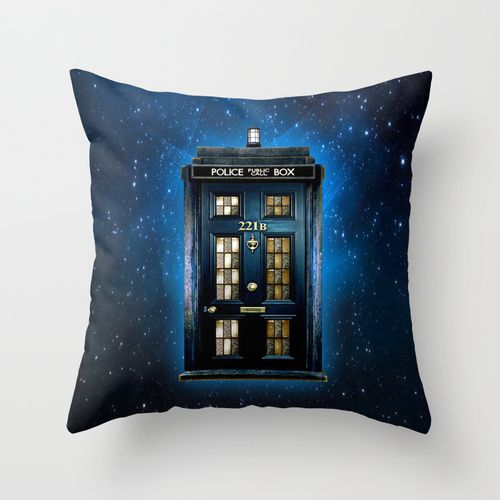 "Tardis Doctor Who Sherlock Holmes Decorative cushion Pillow Case 20"", $18.89 #Pillow #PillowCase #PillowCover #CostumPillow #Cushion #CushionCase #Societysix #PersonalizedPillow #TardisDoctorWho #PublicCallBox #221B #SherlockHolmes #Detective"