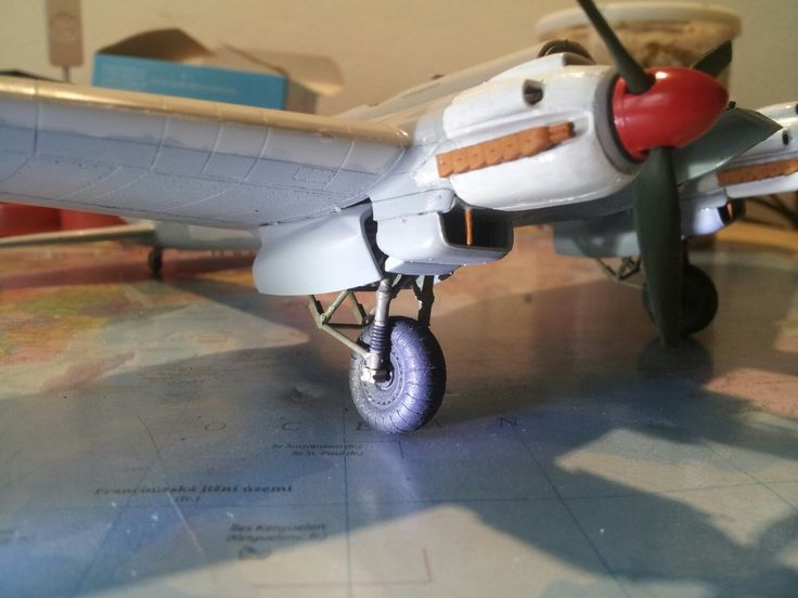 Heinkel He 111 H-6 right engine Jumo 211 F-1, max speed 445km/h with this engine, Scale 1:72