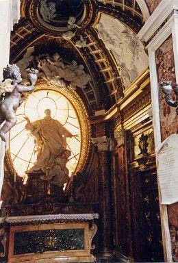 Baroque style Chapel in the San Girolamo della Carità in Rome designed by Baroque architect Filippo Juvarra.Source: Wikipedia Commons
